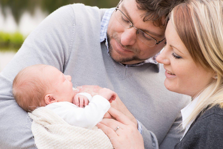 Family Newborn Photos at Golden Hour