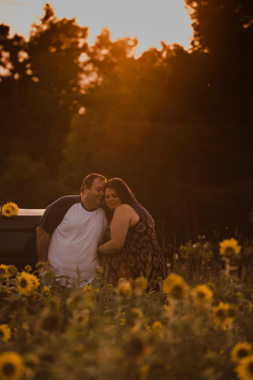Sunflower Fields Forever – Hanover Engagement Photos- Char & John