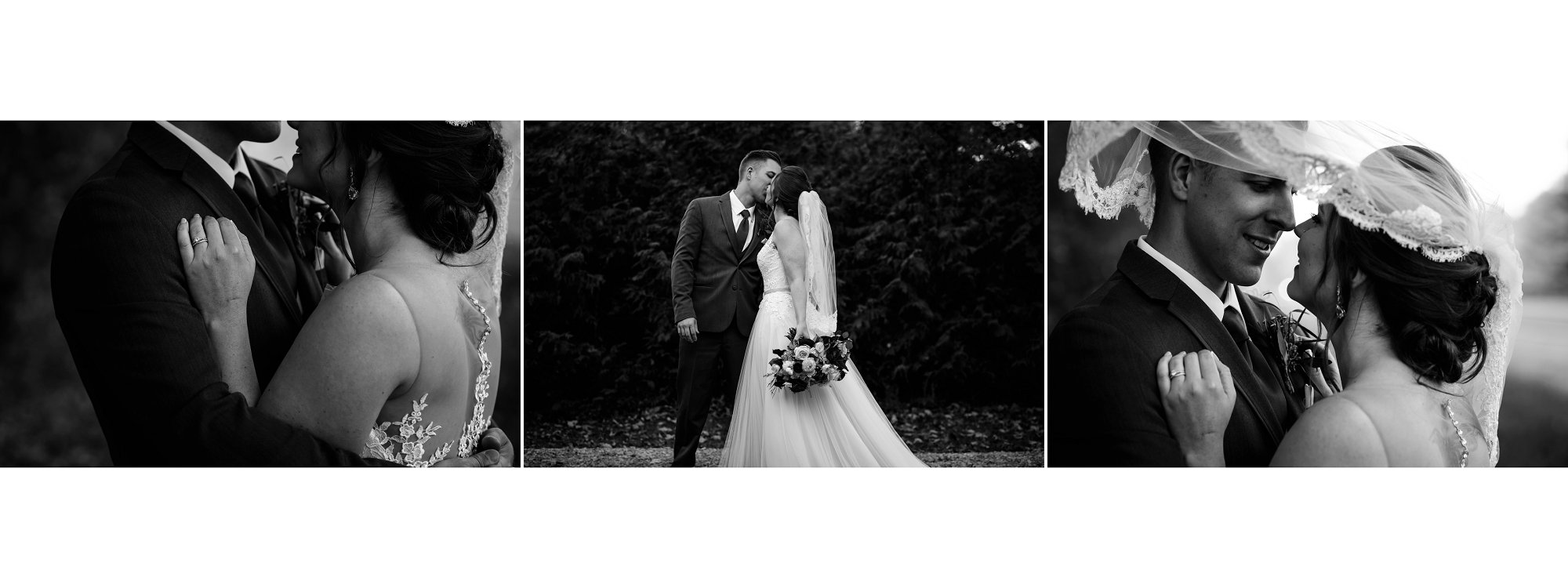 black and white wedding photo album