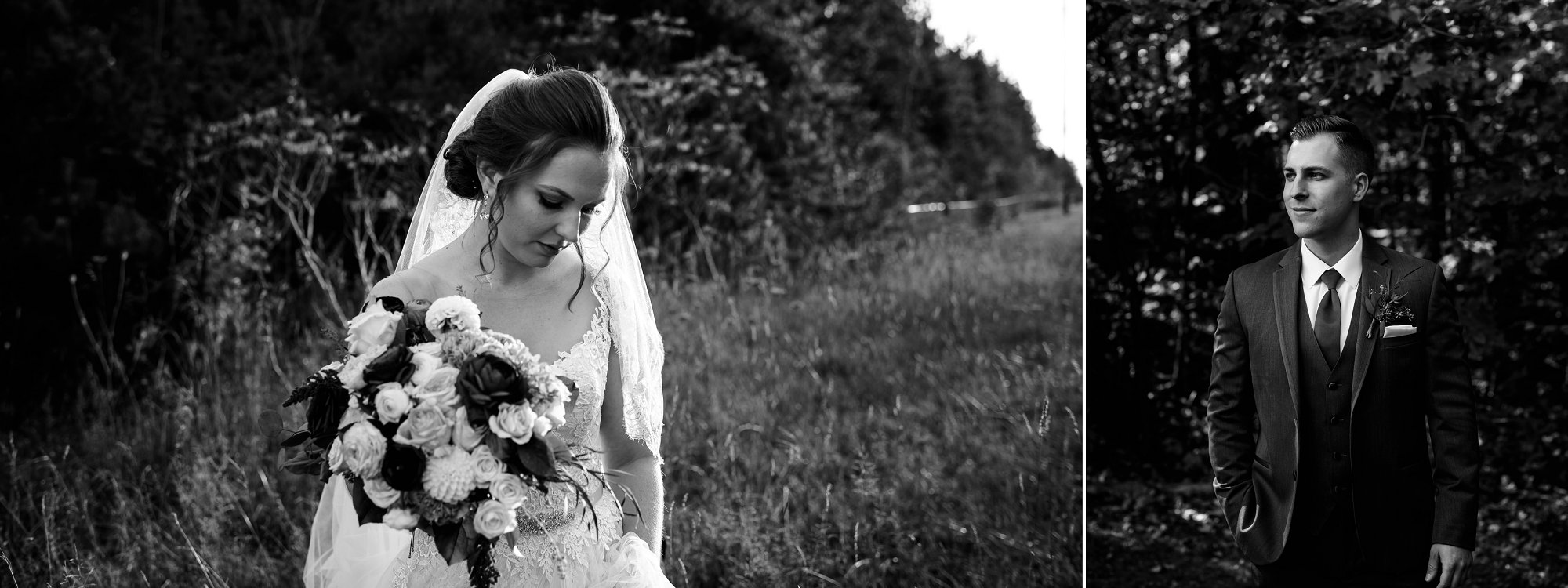 black and white wedding album