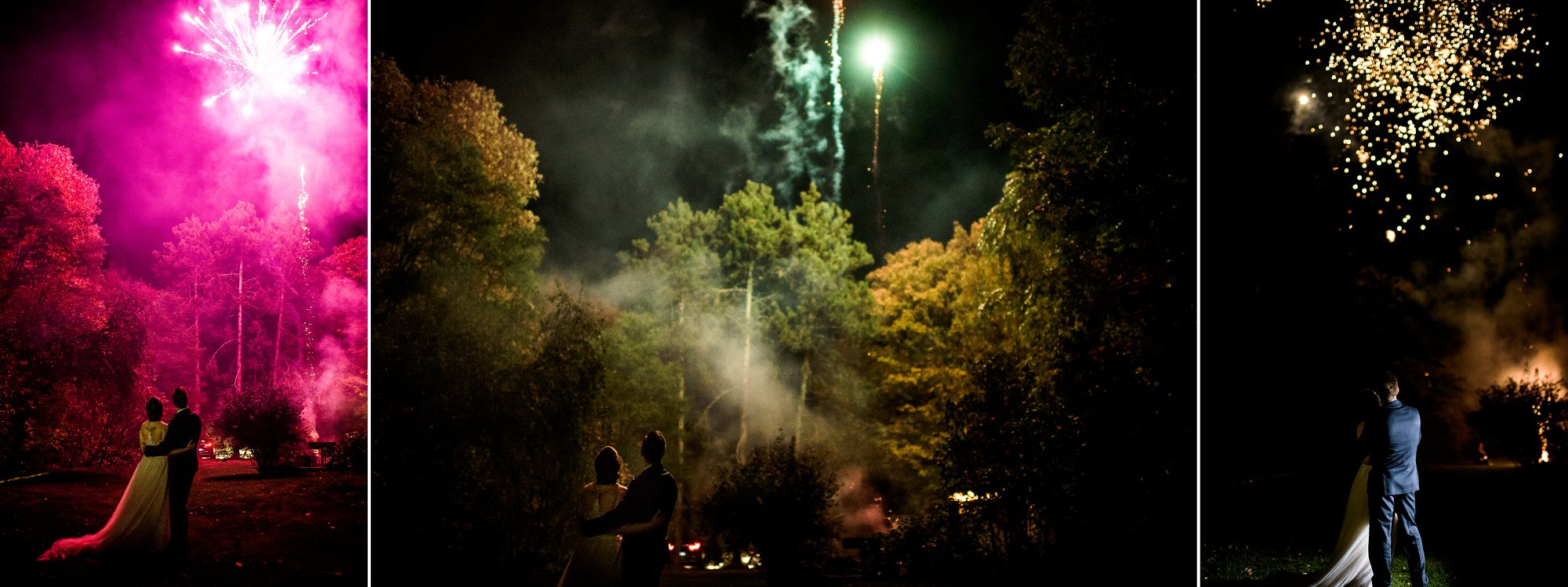 Firework Photos at weddings