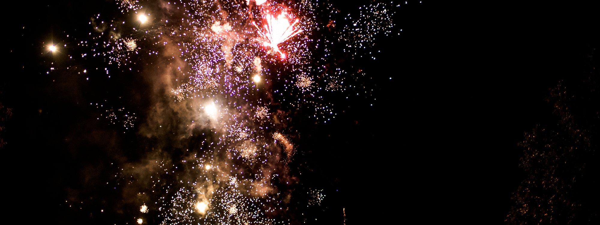 Fireworks at weddings