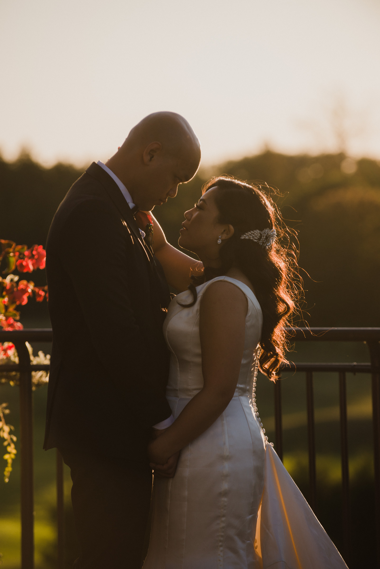 Romantic Sunset Photo at Cardinal Golf Club Wedding