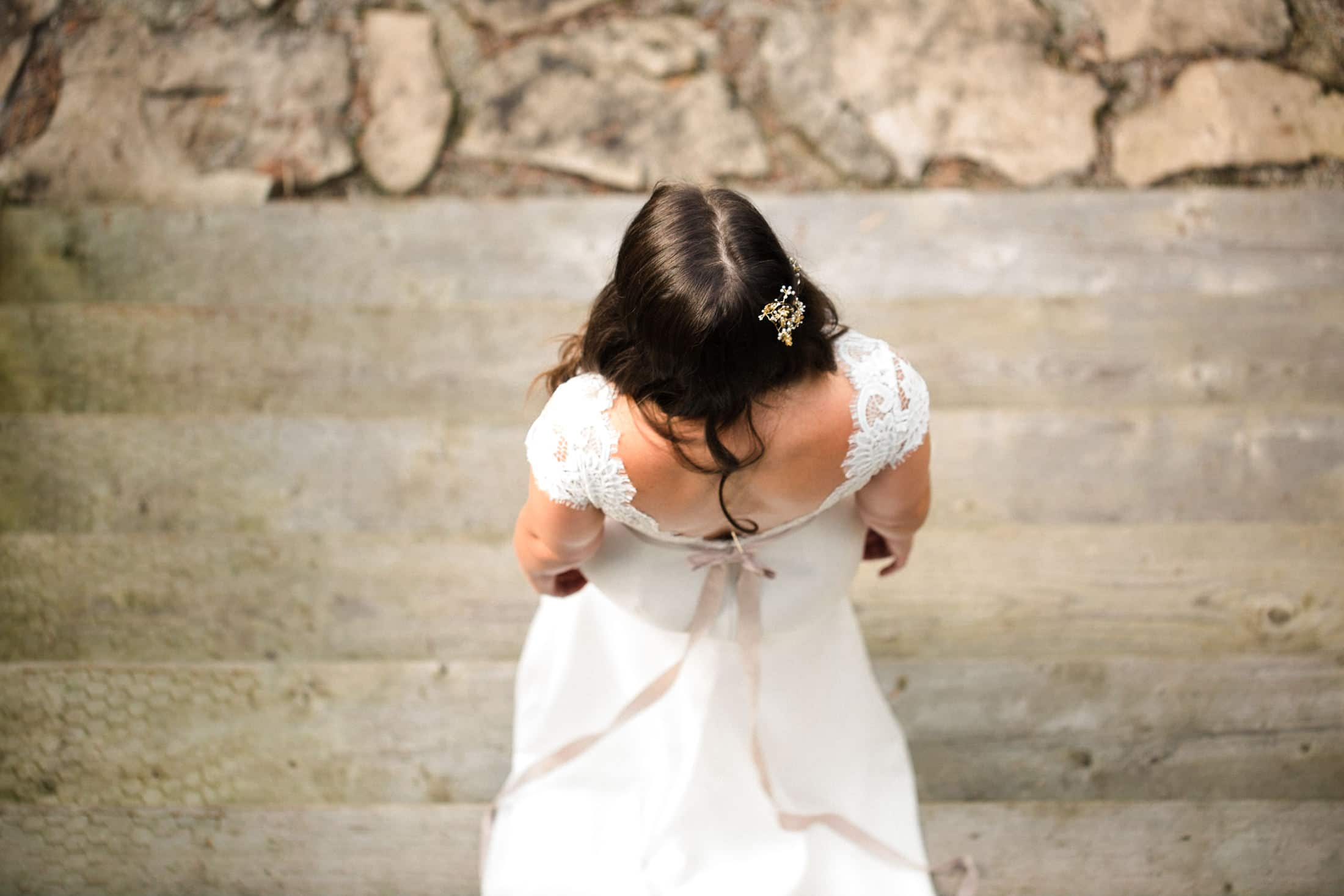 Tobermory intimate wedding candid first look