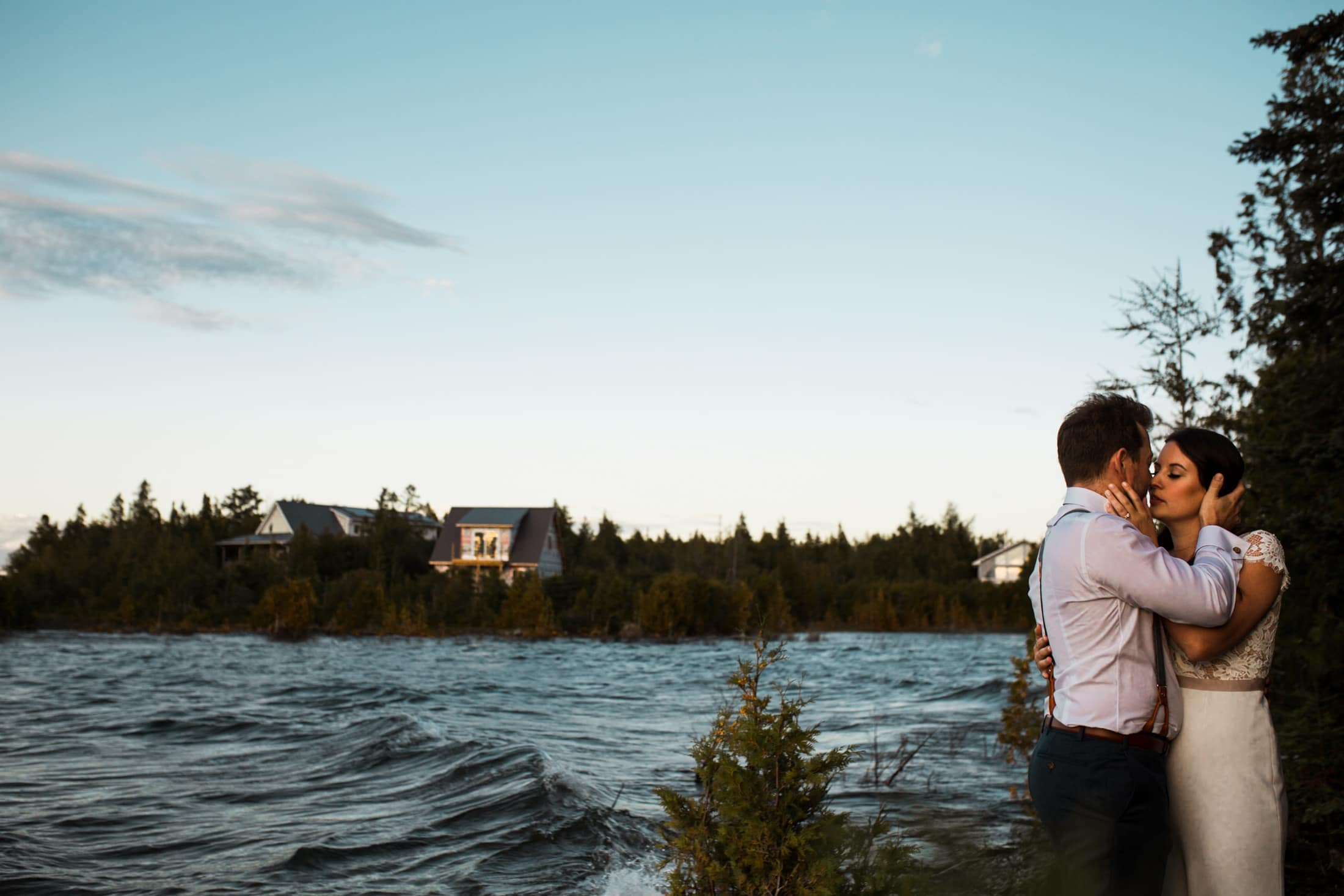 waterside wedding photos