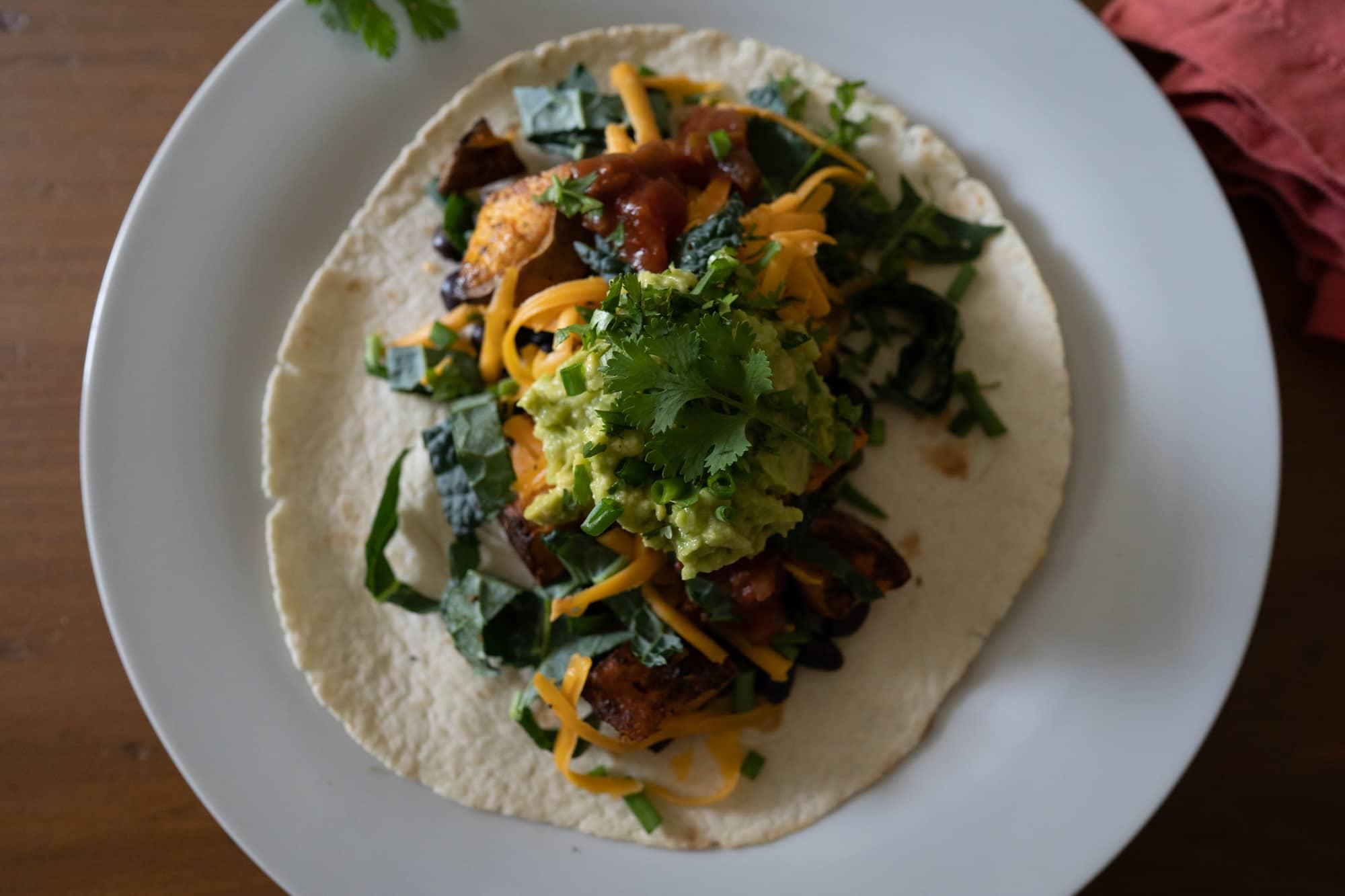 sweet potato and black bean tacos